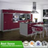 暖かい白は現代デザインModuarの台所家具の食器棚をカスタマイズする