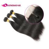 Brasilianisches gerades Haar mit natürlichem Schwarzem des Schliessen-#1b