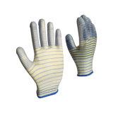 Zebra enduit pu terminer l'utilisation industrielle de travail antistatique des gants de sécurité