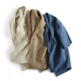 Dame-Wolle-Umhüllungen-Doppeltes knöpft Form-Mantel