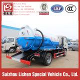 Camion di autocisterna di aspirazione delle acque luride di Dongfeng, camion fecale di 5 Cbm