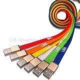 OEM/ODMの昇進のギフトが付いている1つの締縄デザインUSBケーブルに付き3つ