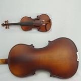 Satin-Endedunkler Brown-Flamme-Ahornholz-Karosserien-feste Violinen-freier Kasten, Bogen