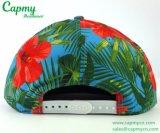Estilo del casquillo del Snapback del sombrero de la impresión de la flor