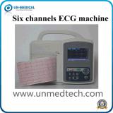 Seis canales Máquina de ECG para uso veterinario