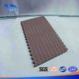 Correia modular plástica material da parte superior lisa dos PP do produto comestível para a máquina do transporte