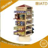 Sauter vers le haut la crémaillère de livres en bois d'étalage de mémoire pour le sac à main/pochette/chaussure