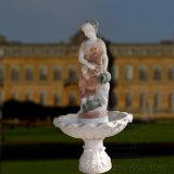 Natuurlijk Snijdend Marmeren Beeldhouwwerk Dame Statue Water Fountain