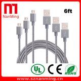 6FT 나일론 땋는 마이크로 컴퓨터 USB 케이블 고속 USB 2.0 마이크로 B Sync에 남성 및 인조 인간을%s 비용을 부과 코드