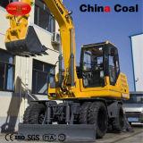 Jhl85 8,5 toneladas de la excavadora de ruedas con 0,4 Cuchara cúbicos