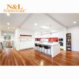 N u. L weißer Küche-Schrank mit lamellierter Vorstand-Karkasse