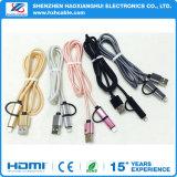 2 en 1 cable USB con una cabeza de carga y transferencia de datos para iPhone y Android