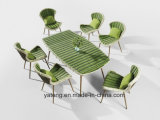 Modern Design Outdoor Garden Furniture Rattan Dining Set com mesa e cadeira por 6 & 8 Pessoa Set (YT896-1)