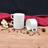 昇進のためのまたはコーヒーStaclabeの白い陶磁器のお茶