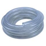 Fio resistente a abrasão reforçadas do PVC alimentar a mangueira flexível de Sucção