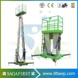 6m doppelte Mast-Aluminiumlegierung-anhebende Plattform/hydraulische Aluminiumlegierung-Luftaufzug-Arbeitsbühne