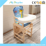 Регулируемый многофункциональный деревянный младенец обедая стул/стул стола малышей высокий
