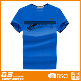 T-shirt de V-Collet de la mode des hommes