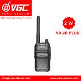 Vr-2r plus Zwarte van de Walkie-talkie van de Zak van 2 Watts de UHF Bidirectionele Radio16CH