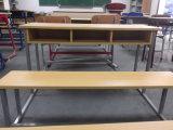 Escritorio y silla combinados de madera (SF-39D) de la escuela de tres asientos