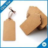 Brown Kraft Blanco etiquetas reutilizable colgar la etiqueta de papel Kraft Etiquetas de regalo de Navidad con el ojal