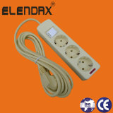 Europäisches Standard 3 Way Extension Cords mit Earth und Switch