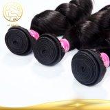 100% unverarbeitetes Bestes, das lose peruanisches Jungfrau-Haar-lockiges Menschenhaar verkauft