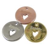 Het ronde Metaal hangt de Charmes van de Markering voor Juwelen
