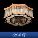 ホテルの部屋のための贅沢なローズの金のステンレス鋼の水晶天井ランプ