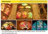 장식적인 다채로운 대성당 유리