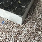 磨かれた自然な銀製のドラゴンの黒の床タイル