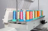 終了する衣服の刺繍のための2つのヘッドコンピュータの刺繍機械