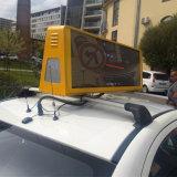 Double faces pleines couleurs Taxi haut Publicité signe à LED
