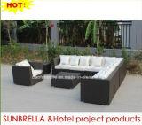 Patio Muebles exteriores sofá de mimbre al aire libre