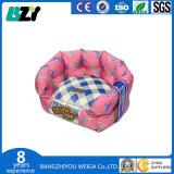 Rundes Haustier-Bett-Luxuxhundesofa-Form-Entwurfs-Farben-Bett