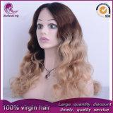 Parrucca piena del merletto dei capelli Burmese dell'onda di acqua di colori di Ombre 3