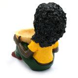 Heißer verkaufender schwarzer Mann-Harz-Aschenbecher