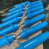 Cilindro hidráulico telescópico ativo dobro