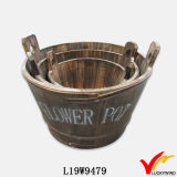 Vente en gros Vintage Antique Look Rope Handle Flower Bucket