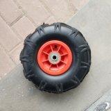 Roda de aro plástico pneumático para a ferramenta 3.50-4 Carrinho