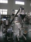 Semi-automático de dosificación en polvo de llenado y la máquina de embalaje