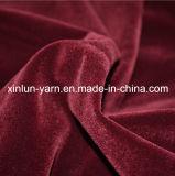 Sello de impresión de leopardo flocado de poliéster tejido de cortina y sofá tapizado