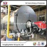 Caldera de gas industrial del vapor de la presión inferior del paso del tubo de fuego 3