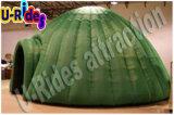 كوخ قبّيّ ثلجيّ خضراء قابل للنفخ صغيرة قبة خيمة لأنّ معرض
