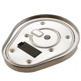 Balança de cozinha eletrônica de aço inoxidável dimensão do agregado