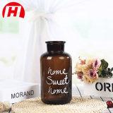 Vase décoratif à la maison en verre de Brown de couleur