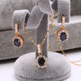 18k Gold Plated CZ Stone Jewelry 다이아나 Engagement Set (62227)