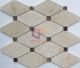 Crema Beige Net Forma de la piedra de mármol del mosaico (CFS1088)