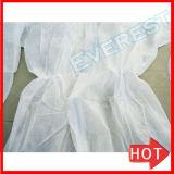 Белый одноразовые работы Coverall Микропористый дышащий материал