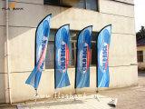 3.4m Ausstellung-Aluminiumdigital-Drucken-Feder-Markierungsfahne/Fliegen-Fahne